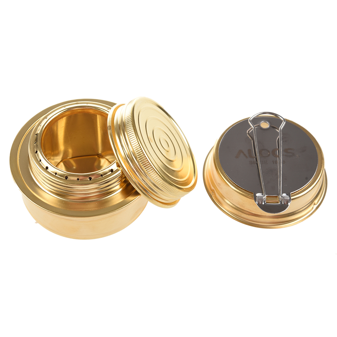 Super sell ALOCS Portable Mini Ultra-light Spirit Alcohol Stove Outdoor Backpacking Hiking Camping Furnace with Stand