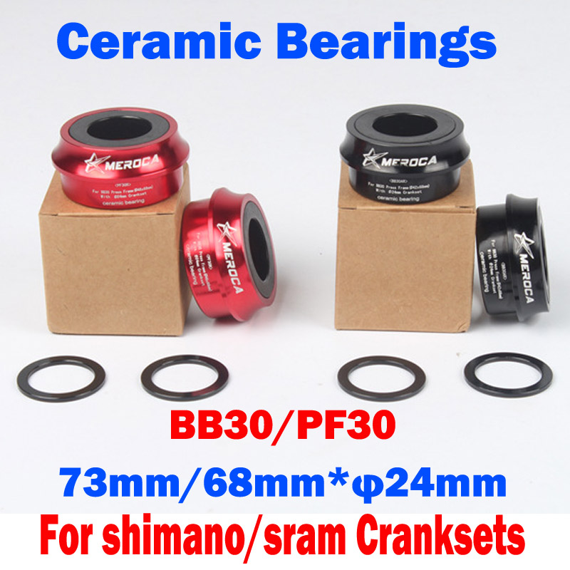 Hot Sale ceramic bearings Precision machining light weight Bicycle Bottom Bracket PF30/BB30 Bicycle Accessories Free shipping [sku 150] precision machining lathe single v pom v slot wheel delrin makerslide for your building 50pcs per bag free shipping