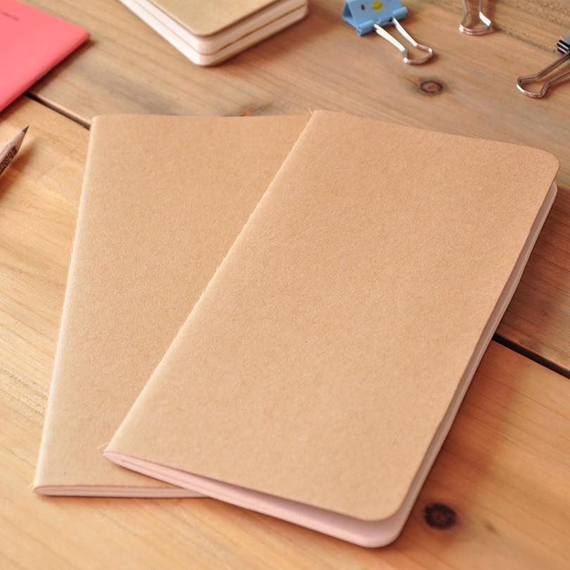 Hot Kraft Notebook Paper Diary 30 Sheets Sketch Notepad Soft Copybook Note Book Office School Supplies Notebooks