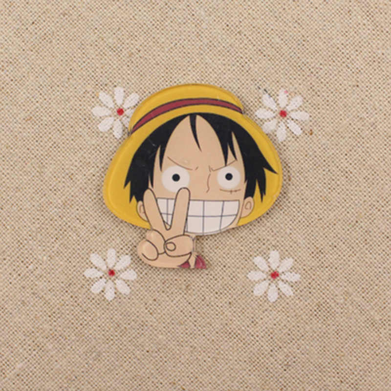 Fffpin One Piece Badge Monkey D Luffy Chopper Brooch Coin Icon Cosplay Breastpin Expression Pin Japan Popular Anime Decoration