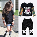 Sun Moon Kids boys t-shirt + long pants 2pieces kids clothes set 1-6Years baby girls clothing autumn children casual sport suit