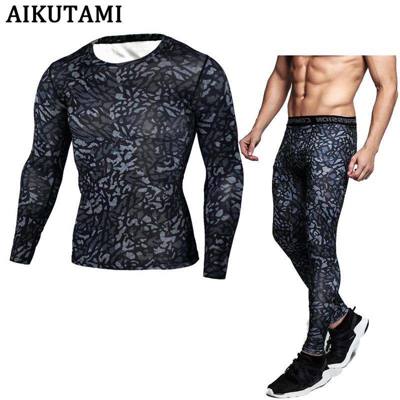 Rashguard Mma Muay Thai Long T Shirt Suit For Men Mma Compression Boxing Shirt And Pants Fighting Gym Fitness Jersey Kickboxing