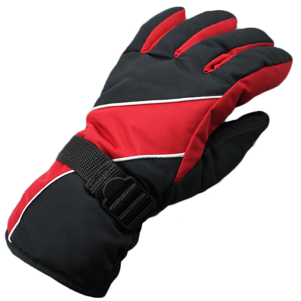 New Men Ski Gloves Thermal Waterproof For Winter Outdoor Sports Snowboard Navy Blue And Red Cloth Warm Gloves Harmonious Colors