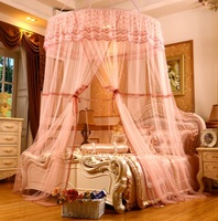 mylb Heightened Round Hoop Princess Pastoral Lace Bed Canopy Mosquito Net Fit Crib Netting Mosquito Net Bedroom Bed Home Decor
