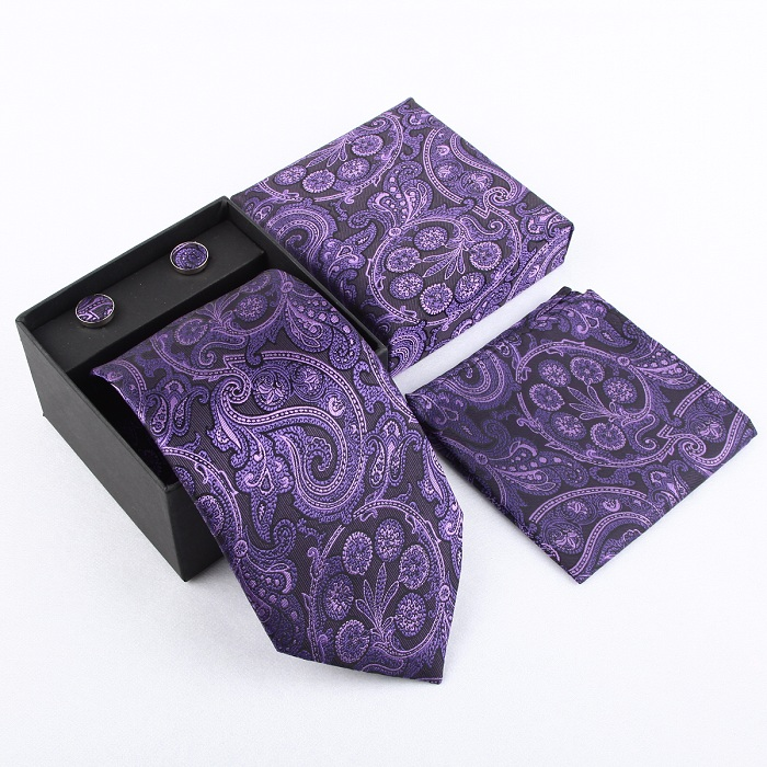 Мужская мода высокого качества захват набор галстуков галстуки запонки шелковые галстуки Запонки карманные носовой платок - Цвет: 30