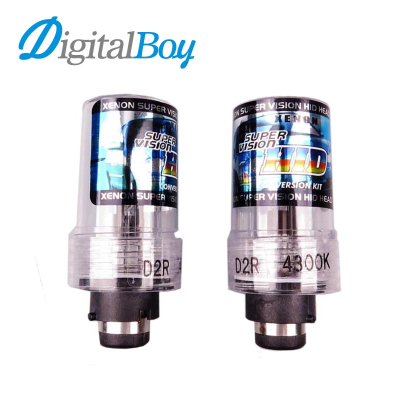 Digitalboy 12V 55W D2R Xenon Bulb Car HID Replacement Auto Headlight Lamp Fog Light 4300K 5000K 6000K 8000K Car Lighting 2pcs lot d2r 55w 12v car hid xenon bulb for replacement auto headlight lamp light source 4300k 5000k 6000k 8000k 10000k 12000k