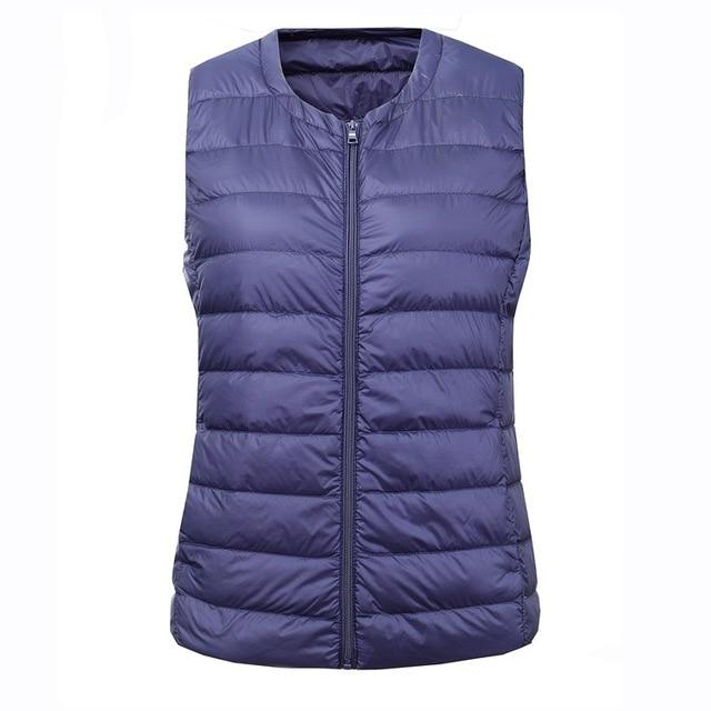 NewBang Brand 6XL 7XL Large Size Waistcoat Women's Warm Vest Ultra Light Down Vest Women Portable Sleeveless Winter Warm Liner 2