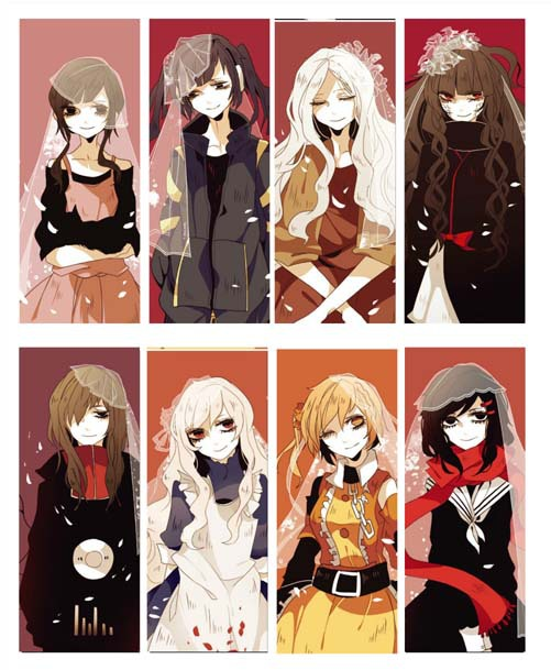 8 pcslot mekakucity actors kagerou project japanese anime pvc transparent bookmark high quality in bookmark from office school supplies on aliexpresscom
