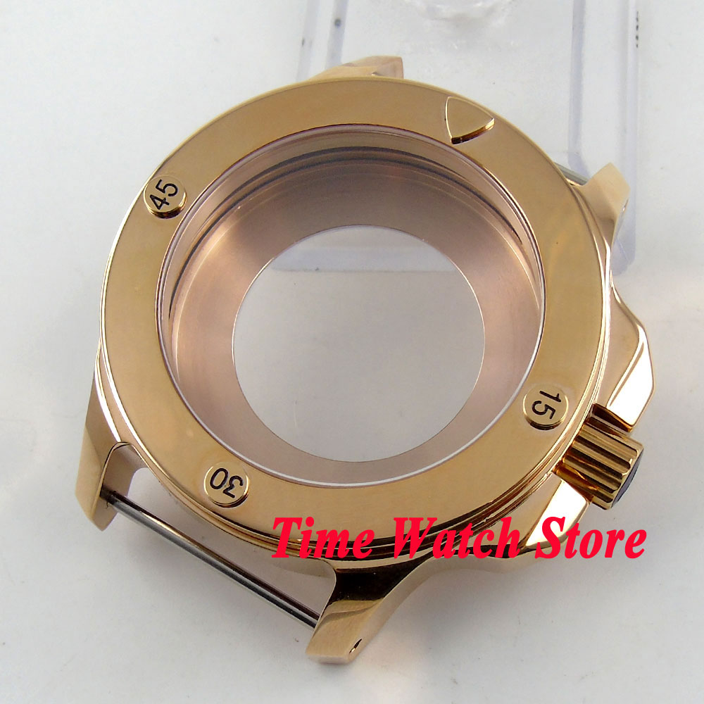 Fit Miyota 8215 ETA 2836 movement Parnis 47mm sapphire glass gold plated stainless steel watch case C80Fit Miyota 8215 ETA 2836 movement Parnis 47mm sapphire glass gold plated stainless steel watch case C80