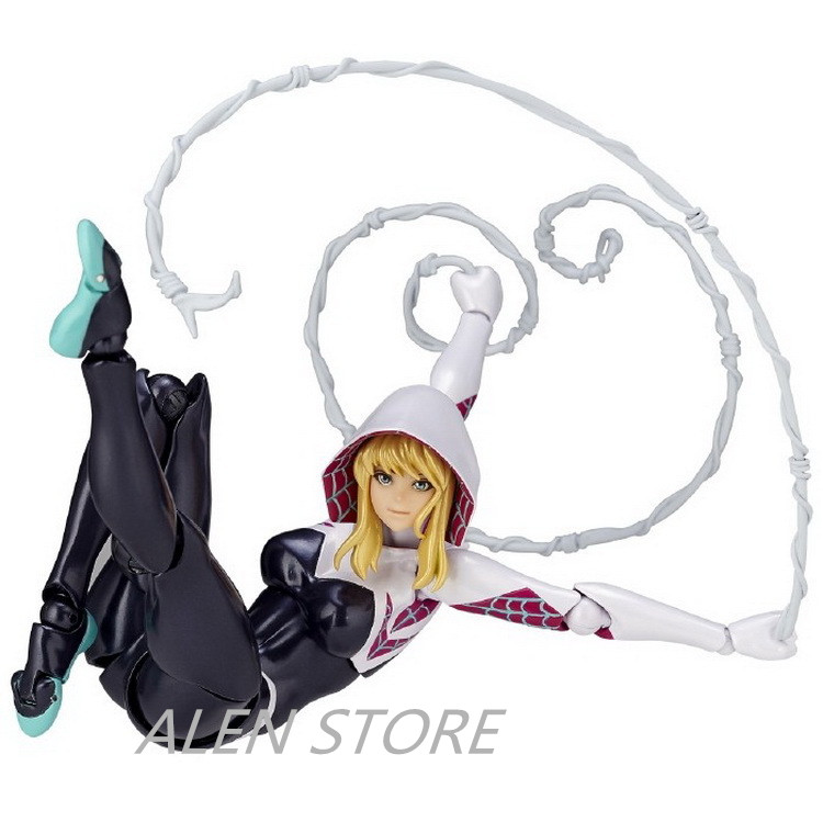 ALEN NEW hot 16cm Spider-Man Homecoming Gwen Stacy Action figure toys Spiderman doll Christmas gift