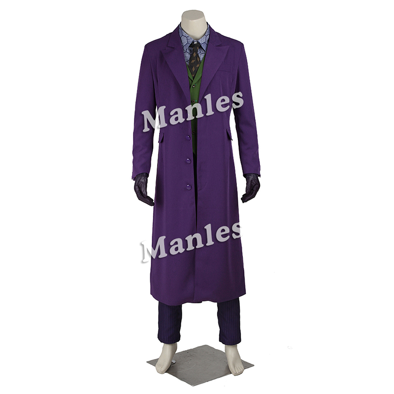 Batman The Dark Knight Joker Cosplay Kostume Outfit Halloween Mænd - Kostumer - Foto 2