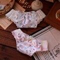 Японии Ангел Чистый Белый Шелк Молока Underwear Кружева Симпатичные Cotton Underwear Трусы Culotte Femme Таньга Женщины Сексуальные Стринги Bragas