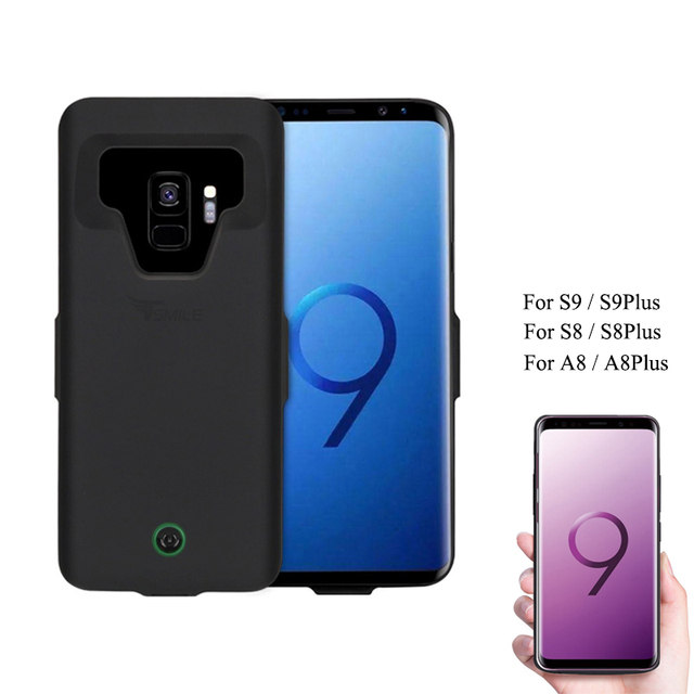 more photos 8bb71 f7663 US $25.99 |7000mAh For Samsung S8 2018 A8 Battery Case Portable Charging  Case for Galaxy S9 Plus + Protective Extended Battery Cover cases-in  Battery ...
