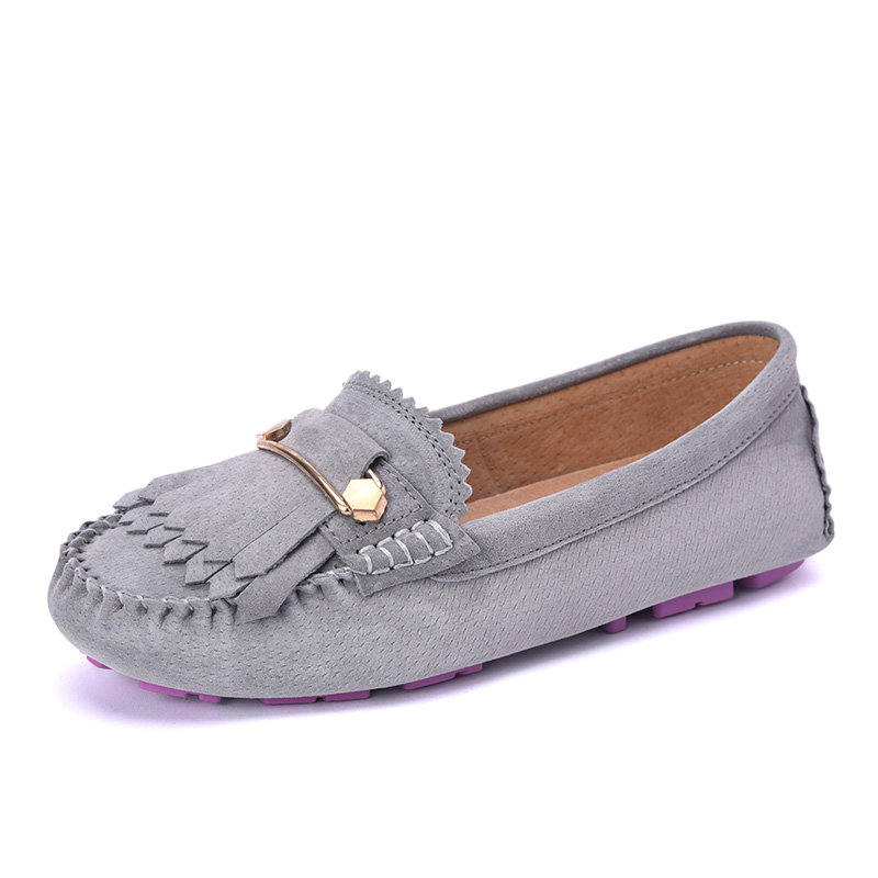 2017 Genuine Leather Women Flats Shoes Fashion Casual Slip On Soft Loafers Spring Autumn Moccasins Female Driving Shoes 2017 autumn fashion men pu shoes slip on black shoes casual loafers mens moccasins soft shoes male walking flats pu footwear