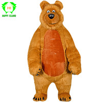 2019 Новый 2,6 M Носки с рисунком медведя из мультика надувной талисман костюмы для взрослых милый медведь рекламы Настройка Хэллоуин Маскарад