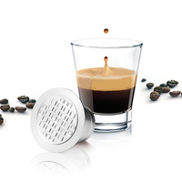 Reusable Coffee Capsules Cup For Nespresso Refillable Capsule Stainless Steel Drip Coffee Maker Tool Capsules Filter Baskets