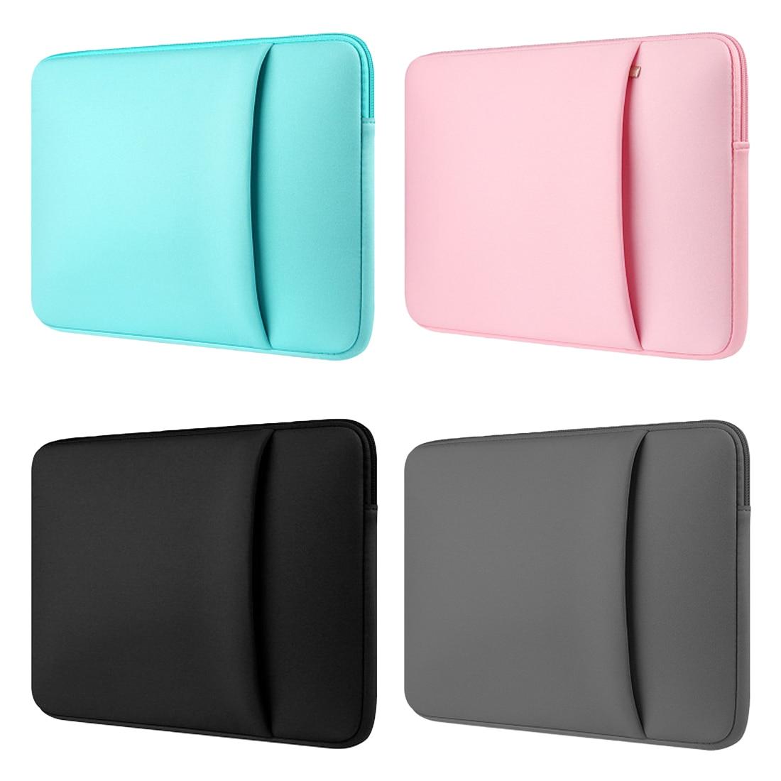 Bolsa Para Laptop Manga Notebook Para Macbook Air 13 Pro 11 12 15 15.6 Casos Bolsa Para Laptop 11 13 14 15 polegada Estojo protetor Forro Sacos