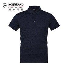 2017 Northland Spring Summer Outdoor Men Shirt Breathable Print Men 's Climbing Shirt  Men Sport Short-sleeved Hiking Shirt