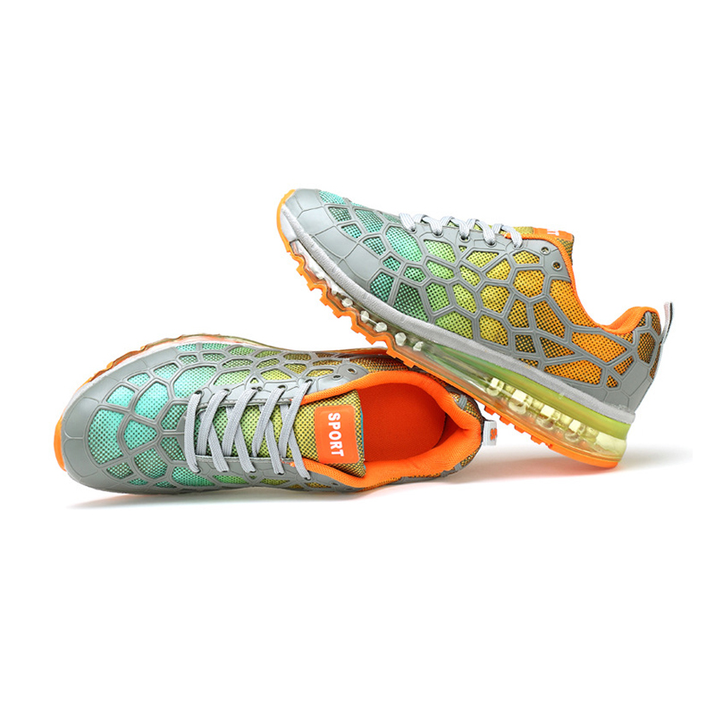 ФОТО 2016 spring air cushion lovers running shoes light weight sneakers comfort breath style for jogging outdoors comfortable 80