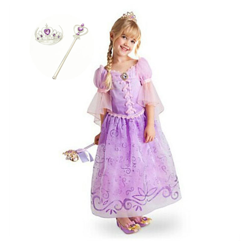 Fashion Princess Rapunzel Birthday Kids Outfits 2 Year To 8 Halloween Costumes for Toddler Girls Fancy Dress