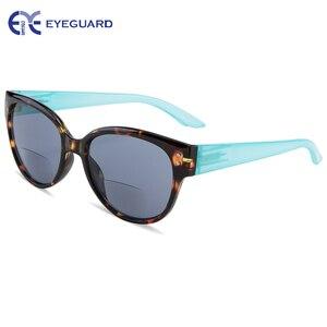 Image 2 - EYEGUARD Frauen Bifokale Sonnenbrille Sonne leser UV 400 Schutz Outdoor Lesen und Abstand Betrachtung Mode Dame Leser Design