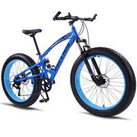 Bike Mountain Bike 7/21 Speed Fat Bike 26 * 4.0 Road Bikes Snowmobile bicycle Shockingprllf Frame Male Free Shipping