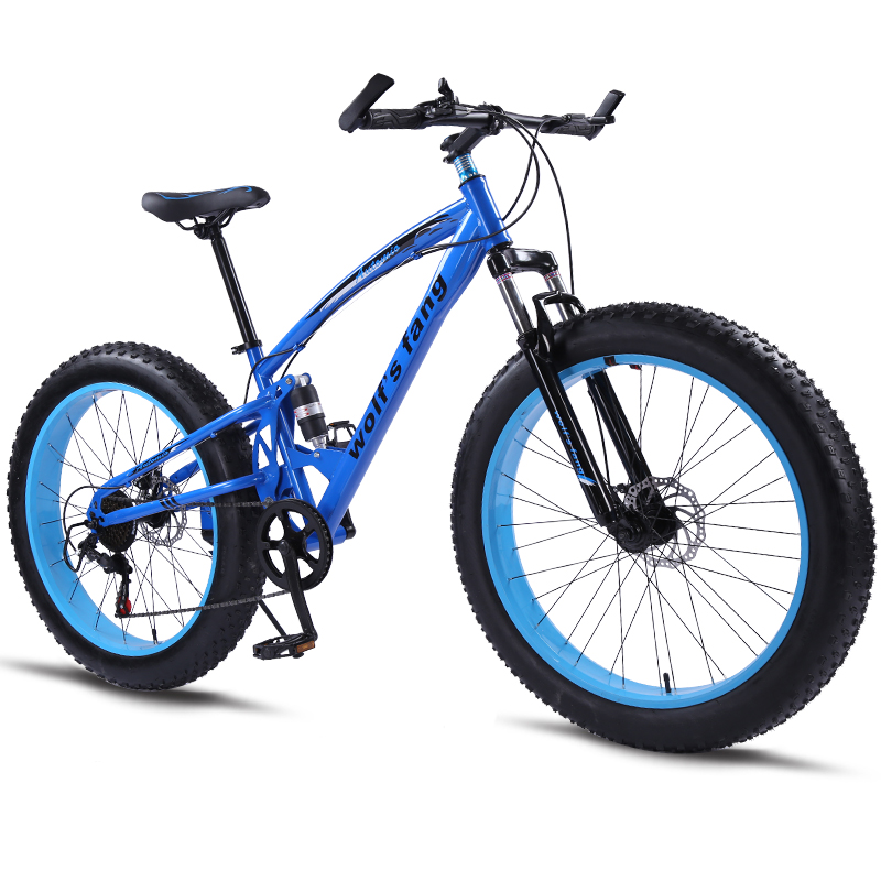Vélo vélo de Montagne 7/21 Vitesse Graisse Vélo 26*4.0 Route Vélos Neige mobile vélos vtt Livraison Gratuite de haute qualité