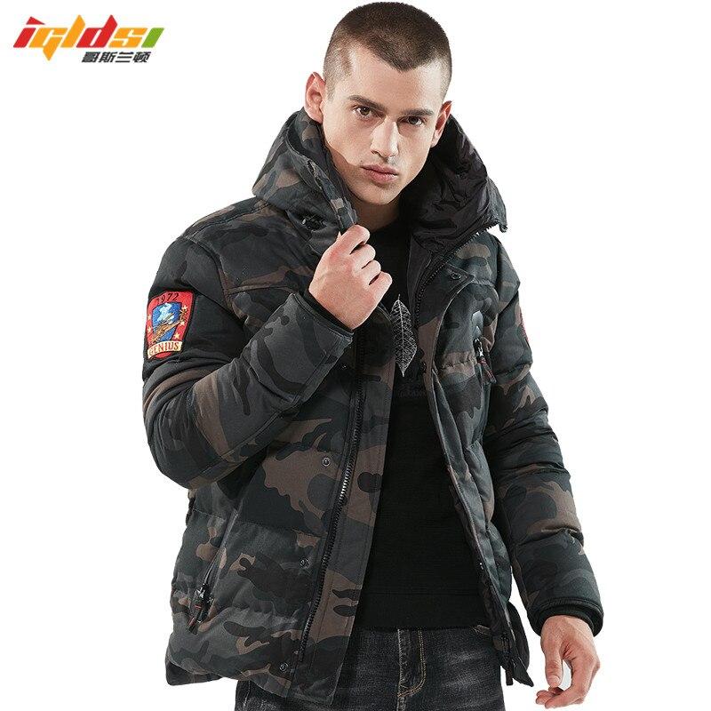 2018 Bomber Winter Jacke Männer Verdicken Warme Taktische Parkas Mit Kapuze Mantel Camouflage Armee Militär Sticken Jacke Padded Mantel