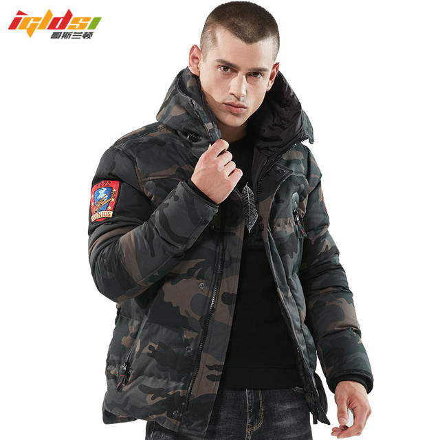 Big Promo 2018 Bomber Winter Jacket Men Thicken Warm Tactical Parkas Hooded Coat Camouflage Army Military Embroider Jacket Padded Overcoat