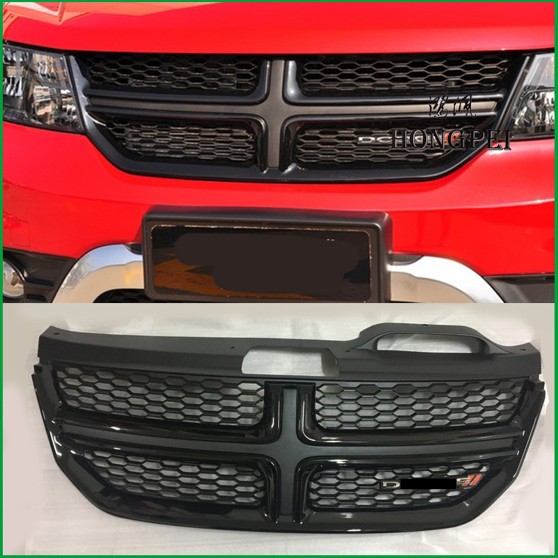 Para Dodge Journey JCUV 2009 2010 2011 2012 2013 2014 2015 2016 Tampa Do Carro Grade Dianteira Bumper Radiador Grade Superior styling