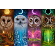 Full Square Drill 5D DIY Colorful owls four season diamond painting Cross Stitch 3D Embroidery Kits home decor H45