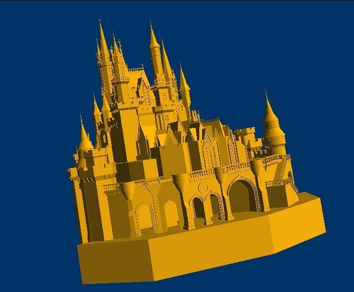 3D Model Relief For Cnc In STL Format Disney Castle