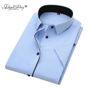 DAVYDAISY 2019 Summer Men Short Sleeved Male Shirts White