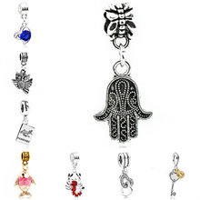 Vintage Owl Lion Dog Baby Love Heart Hamsa Hand Alloy Pendant Beads Fit Pandora Charm Bracelets for Women Making Jewelry Colares(China)