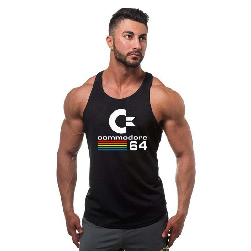 Golds gyms clothing Commodore 64   Tank     Top   bodybuilding stringer   tank     top   Men Sleeveless Shirt Cotton Singlets Muscle Clothes