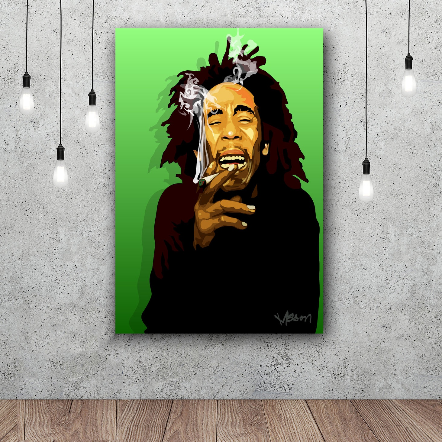 Bob Marley Music Art Home Decor Silk Poster 12x18