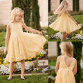 Princess Baby Girls Lace Floral Sleeveless Dress Gown Formal Party Dress 2-11Y