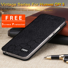 Huawei GR3 cover case flip huawei gr3 phone case mofi original 5.0″ GR3 leather fundas brand retail