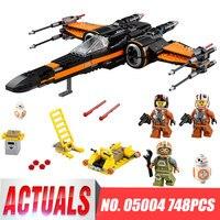 אבני בניין 05004 דגם מלחמת הכוכבים X לוחם כנף של 75102 לבנים תואם Poe Legoing דמות צעצועים לילדים