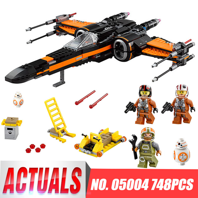 Building Blocks 05004 Model Star Wars Poe's X Wing Fighter 75102 Compatible Bricks Figure Legoing Toys For Children hot sale building blocks assembled star first wars order poe s x toys wing fighter compatible lepins educational toys diy gift