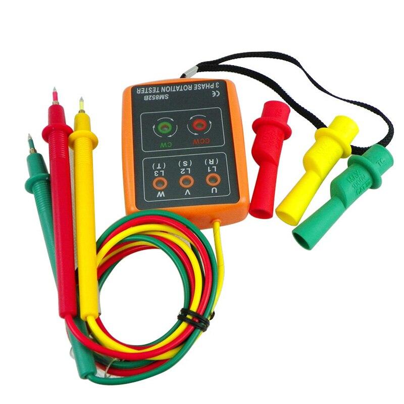 SM852B Trois 3 Phase Indicateur Indicateur de Séquence Avec La Phase Ouverte Checker Détecteur Compteur