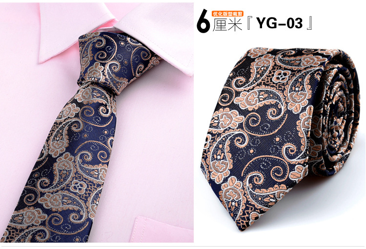 6cm krawatten für männer dünne krawatte hochzeitskleid krawatte - Bekleidungszubehör - Foto 3