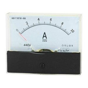 1 pc 44c2 dc 100ua 100ma 5a 10a 15a amperímetro analógico medidor de teste atual 100x80mm