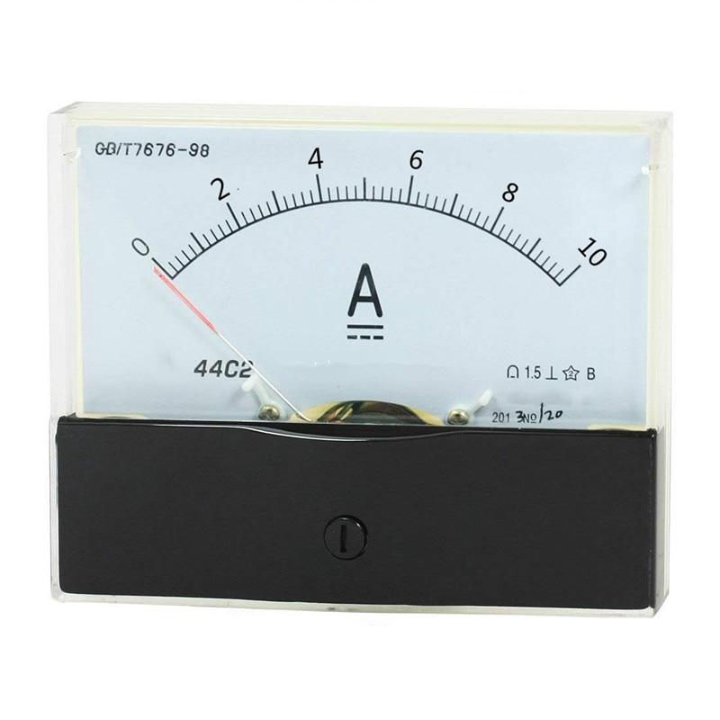 1PC 44C2 DC 100uA 100mA 5A 10A 15A Ammeter Analog Current Test Meter 100x80mm