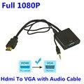 BrankBass HD 1080 P HDMI к VGA Конвертер с 3.5 ММ Аудио Кабель для Xbox 360 Для PS3 для PS4 ПК DVD