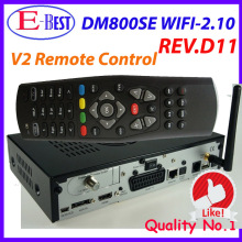 dm 800se 300mbps wifi Satellite Receiver dm800se Enigma2 Wifi BCM4505 Tuner with v2 remote control DHL Free Shipping