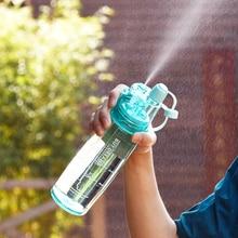 1 Stücke neue Ankunft 580 ml Mr. Box Sprühflasche Cartoon Kunststoff Wasserflasche tragbare Tour Klettern Wandern Camp Fahrrad Drink