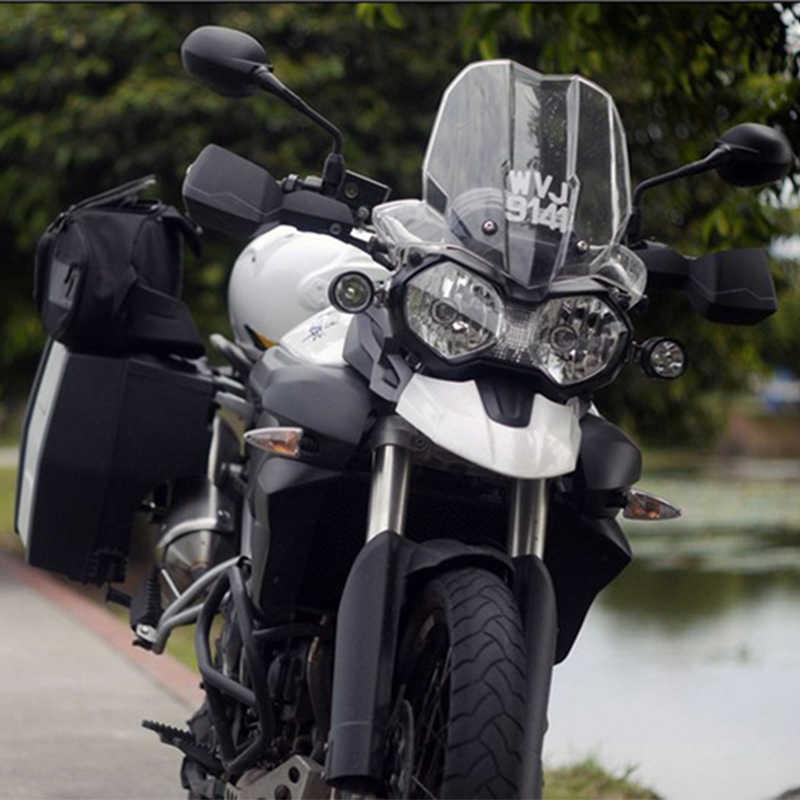 Huiermeimi 2PCS 40W motorcycle spotlight U2 LED 1200LM 12V motorbike headlight Headlamp moto head Spot light DRL Decorative Lamp