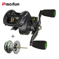 Piscifun Phantom Spool Fishing Reel Carbon Fiber Ultralight 162g Dual Brake 7 7kg Max Drag 7
