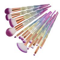 Makeup Brush New Arrival 15Pc Mermaid Foundation Eyeshadow Contour Eye Lip Makeup Brushes Set Artist Brushes